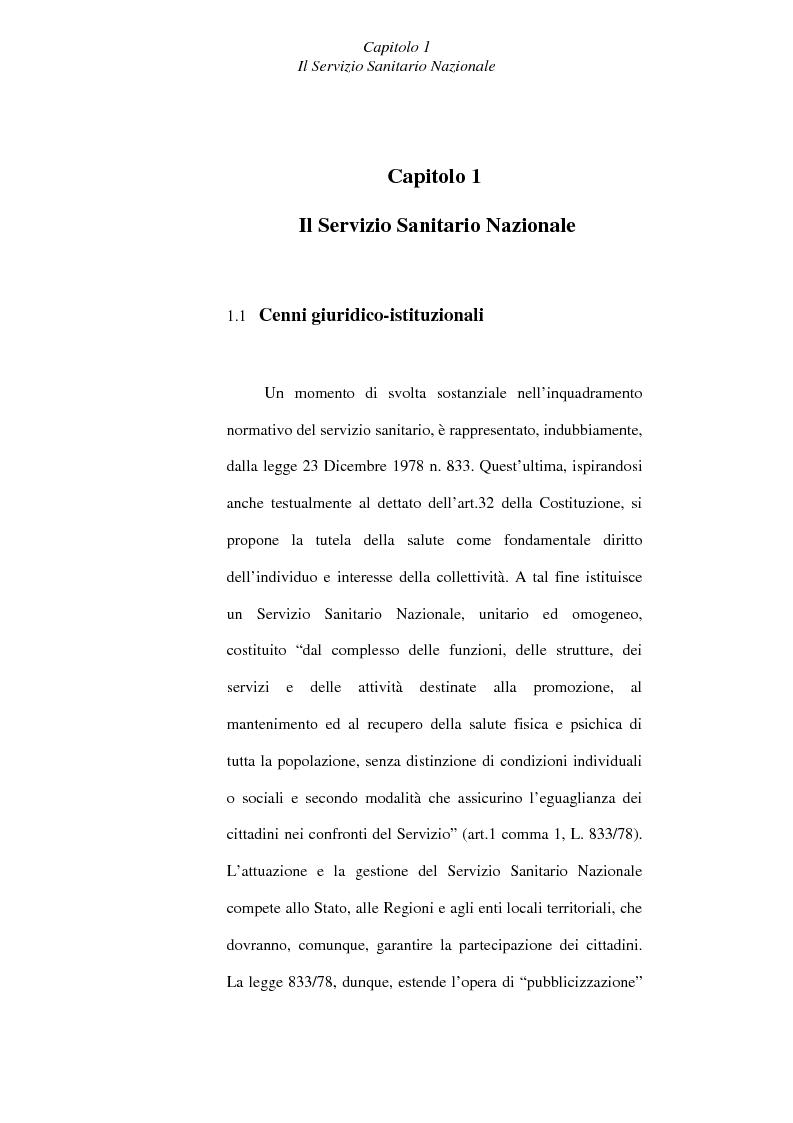 Anteprima della tesi: Il controllo economico di gestione nelle aziende sanitarie, Pagina 5