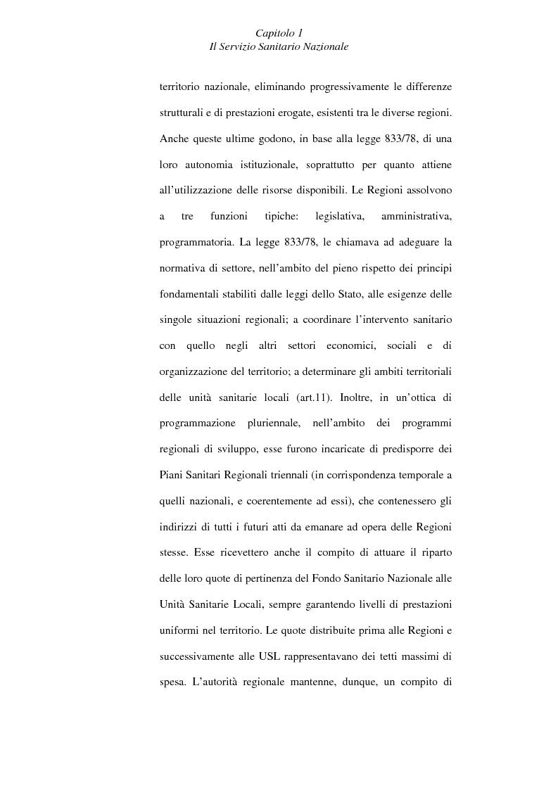 Anteprima della tesi: Il controllo economico di gestione nelle aziende sanitarie, Pagina 8