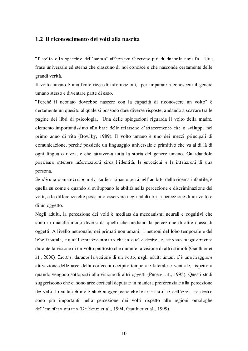 Estratto dalla tesi: Riconoscimento dei volti nelle prime ore di vita: uno studio con s-LORETA