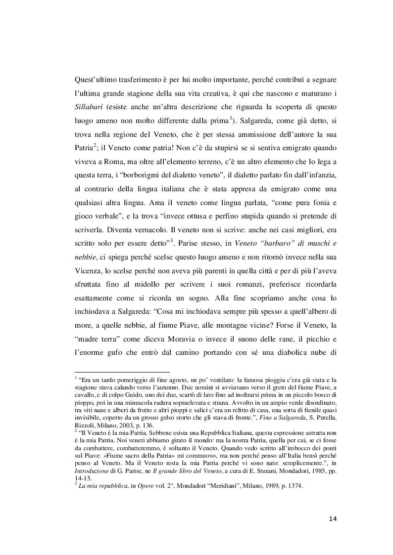 Estratto dalla tesi: Parise Reporter