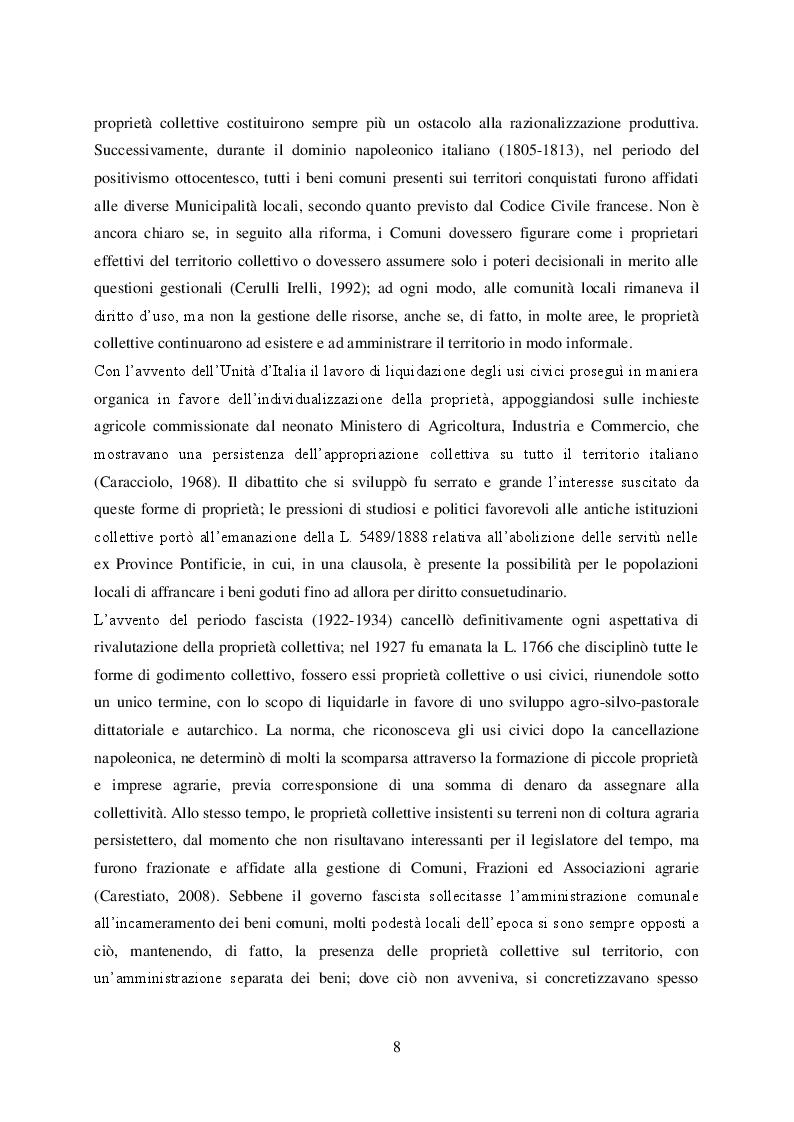 Estratto dalla tesi: Le proprietà forestali collettive nella Regione Veneto: modelli di resilienza o 'relitti del passato'?