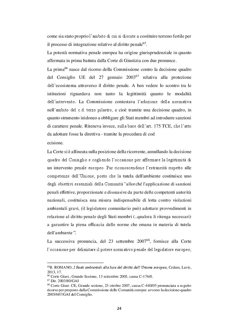 Estratto dalla tesi: Analisi del reato di disastro ambientale: dalla fattispecie giurisprudenziale al nuovo art. 452 quater c.p.