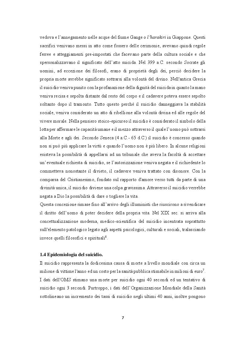 Estratto dalla tesi: Il ruolo dell'infermiere nella prevenzione del suicidio in ospedale: una revisione critica della letteratura.