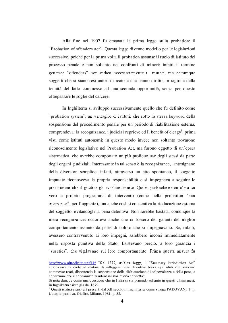 Estratto dalla tesi: I meccanismi di diversion: comparazione giuridica ed esperienza pratica