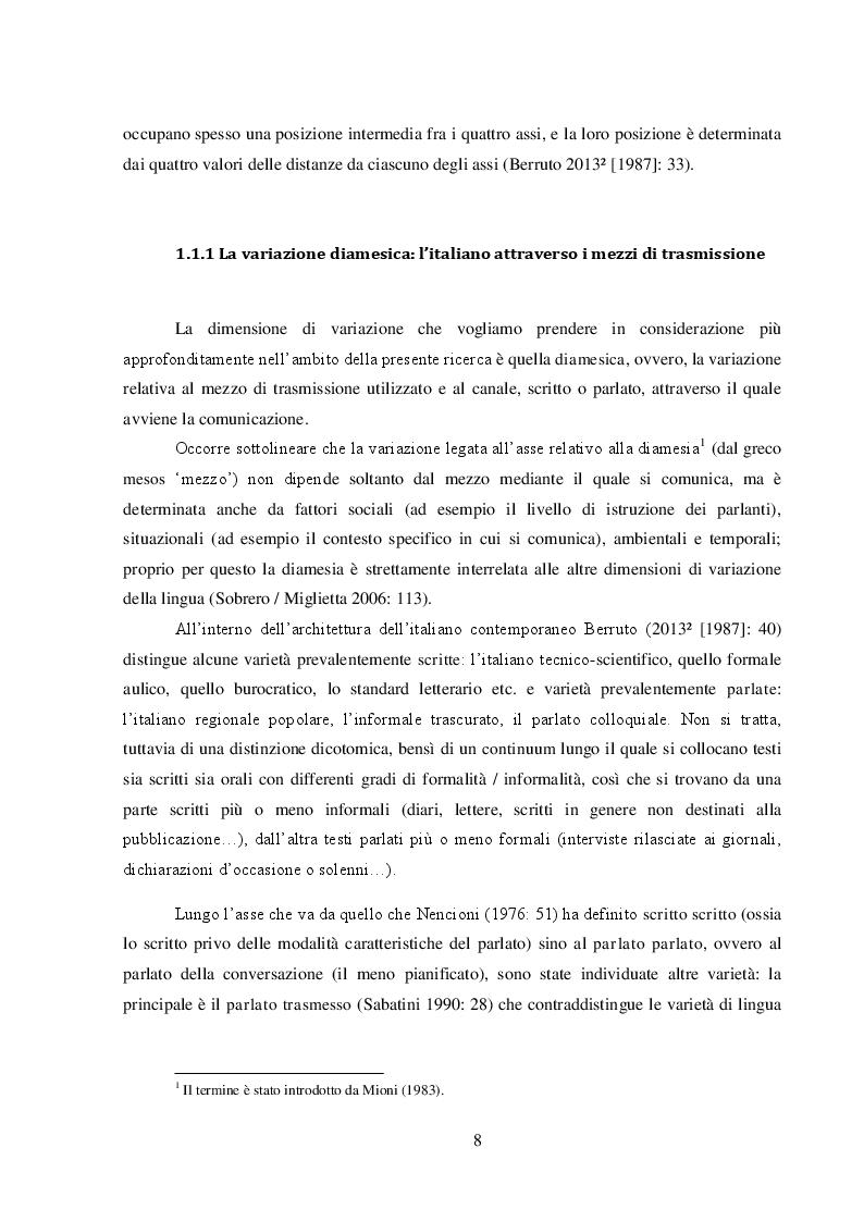 Anteprima della tesi: L'influenza dei nuovi media sull'italiano dei giovani: l'esempio di WhatsApp, Pagina 6