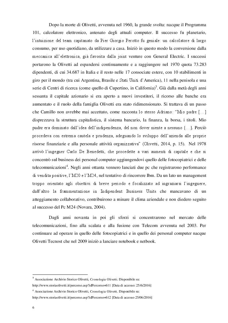 Estratto dalla tesi: La lezione di Adriano Olivetti: il welfare aziendale e la partecipazione nelle imprese Workers' Buy Out