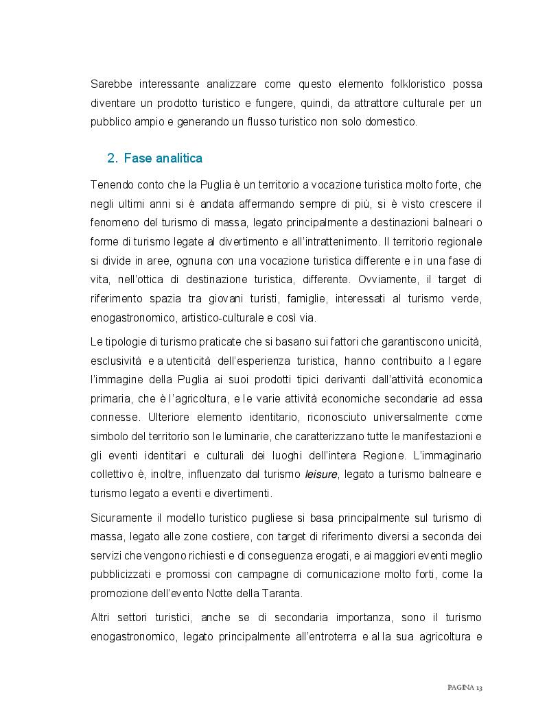Estratto dalla tesi: Redazione di un piano di marketing territoriale per la creazione di una  rete formale tra i Presepi Viventi di Puglia e un'offerta turistica di qualità