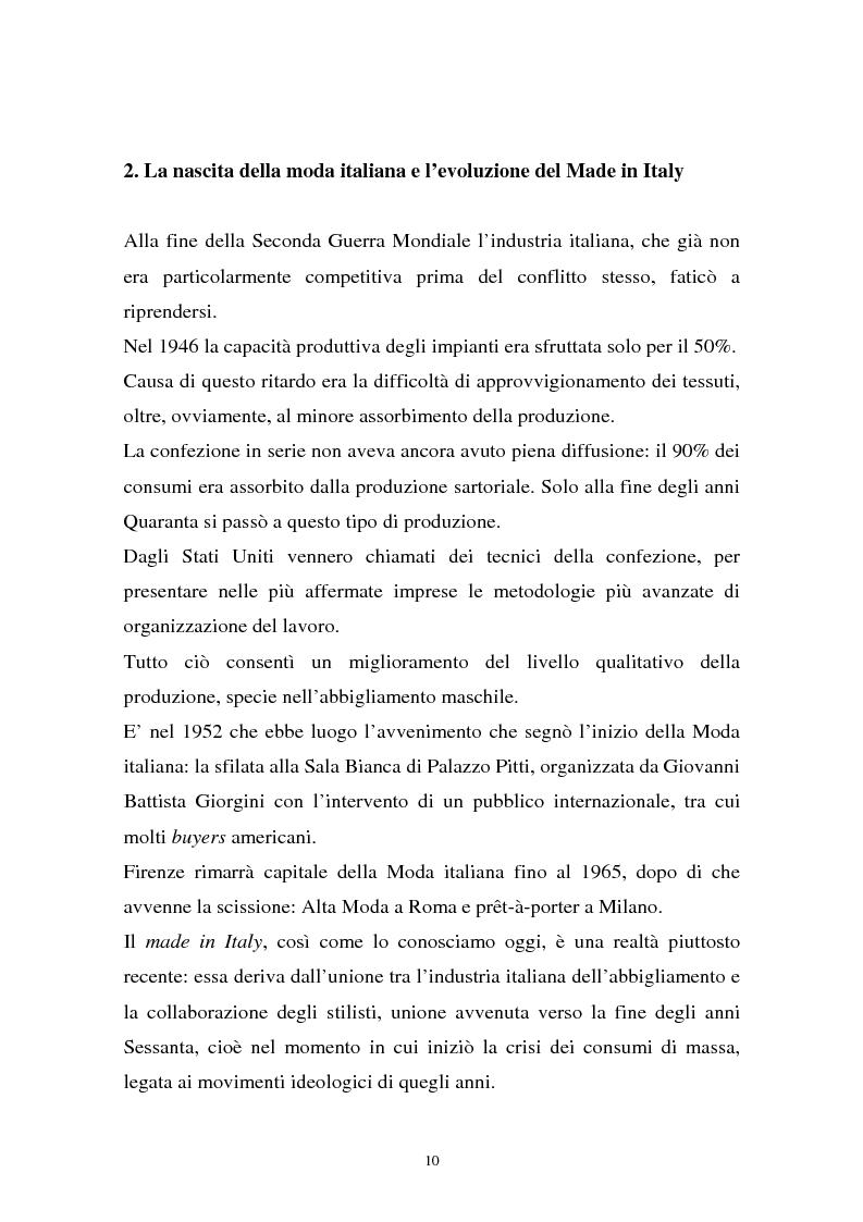 Anteprima della tesi: Il sistema della moda e la comunicazione: strumenti ed obiettivi, Pagina 10