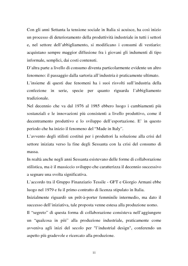 Anteprima della tesi: Il sistema della moda e la comunicazione: strumenti ed obiettivi, Pagina 11