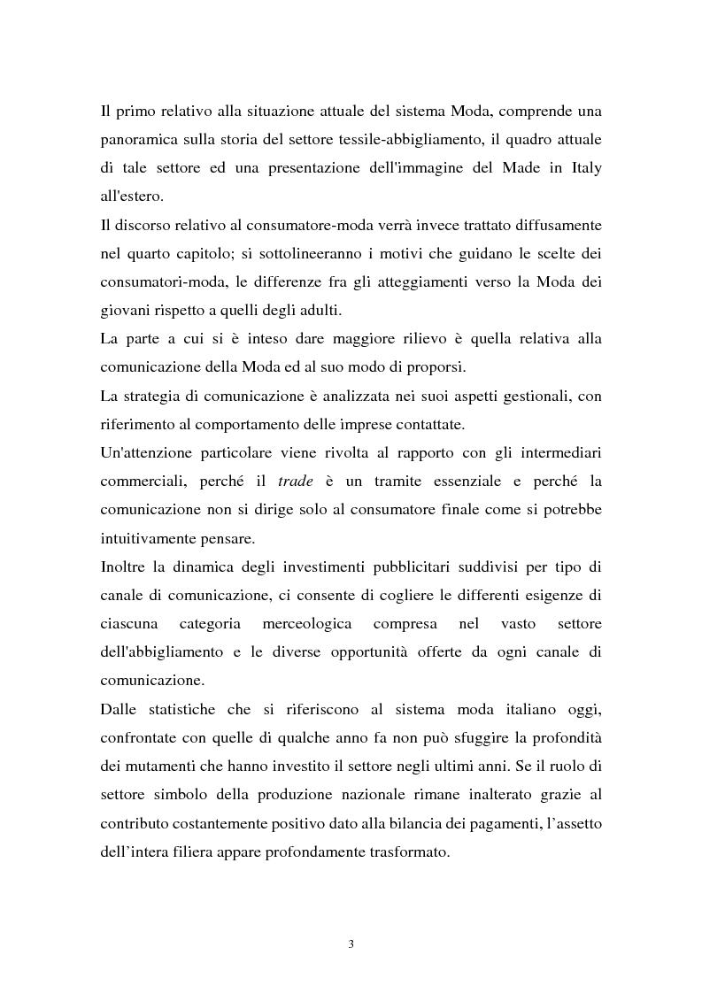 Anteprima della tesi: Il sistema della moda e la comunicazione: strumenti ed obiettivi, Pagina 3