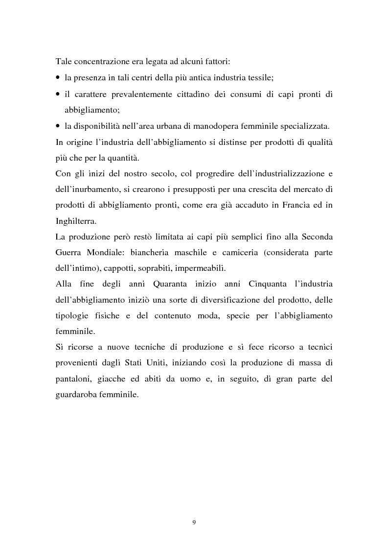 Anteprima della tesi: Il sistema della moda e la comunicazione: strumenti ed obiettivi, Pagina 9