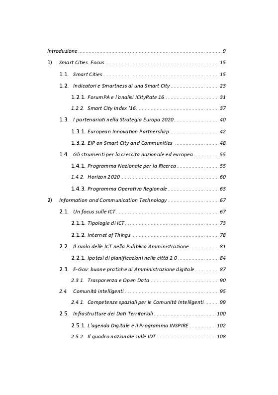 Indice della tesi: Verso la Smart City: un progetto per Formia, Pagina 1