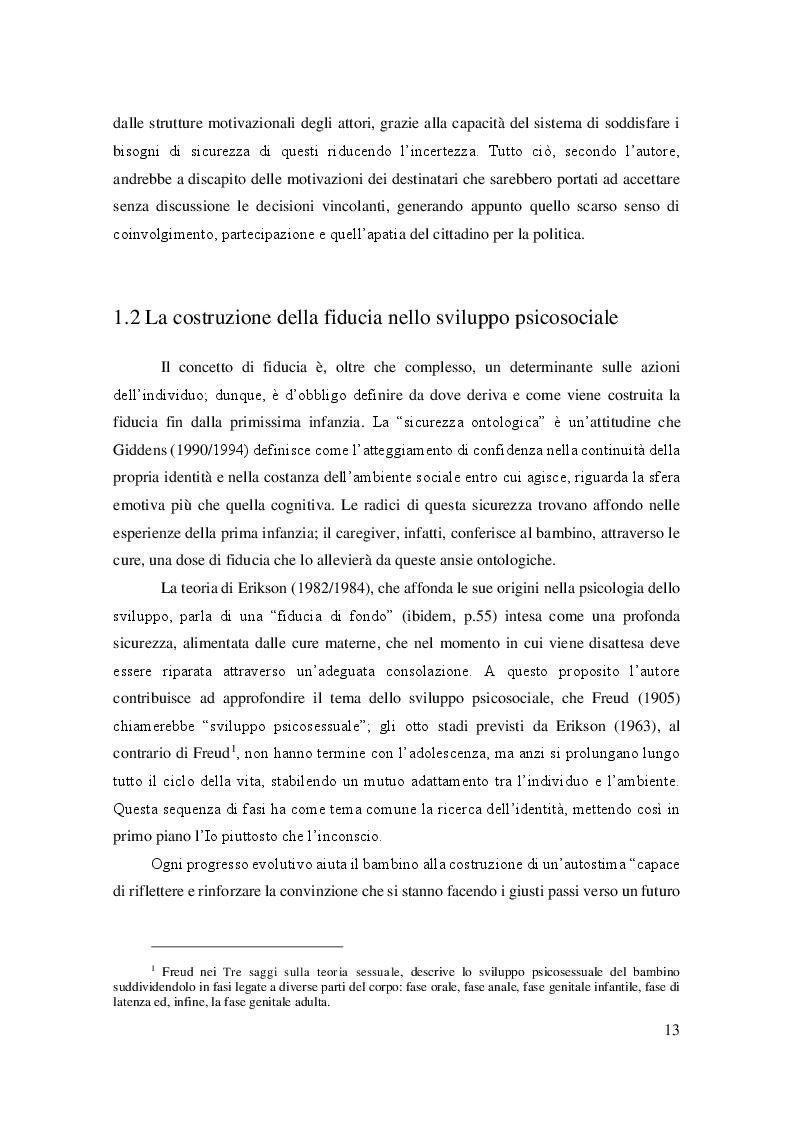 Estratto dalla tesi: Istituzioni e partecipazione: la crisi della fiducia nel rapporto tra cittadini e istituzioni. Uno studio qualitativo tra gli studenti dell'Università degli Studi di Bergamo.