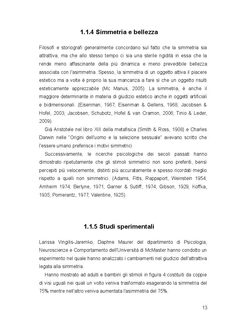 Estratto dalla tesi: Uno studio sperimentale sullo sviluppo mentale della percezione della simmetria e delle ombre.