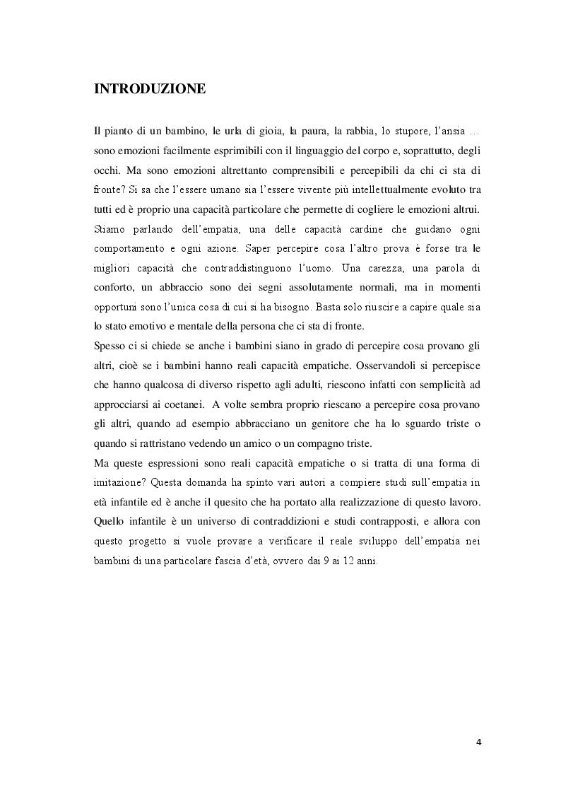 Anteprima della tesi: Lo sviluppo dell'empatia in età infantile valutato mediante l'IAT - Implicit Association Test, Pagina 2