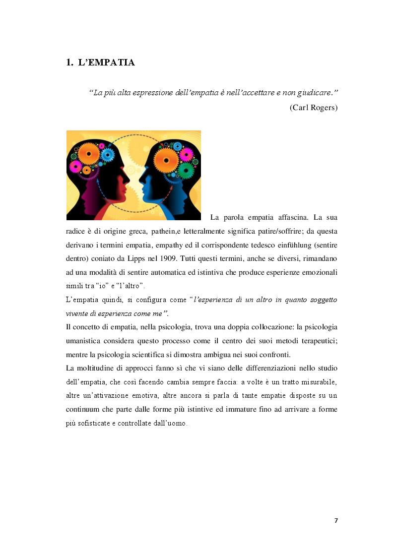 Anteprima della tesi: Lo sviluppo dell'empatia in età infantile valutato mediante l'IAT - Implicit Association Test, Pagina 5