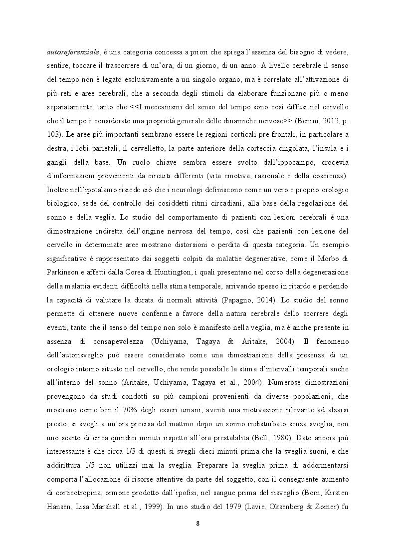 Estratto dalla tesi: Il Tempo del Sogno. Riferimenti temporali nei contenuti onirici