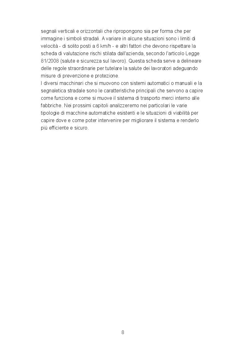 Estratto dalla tesi: Trasporto Automatico a Segnaletica Proiettata