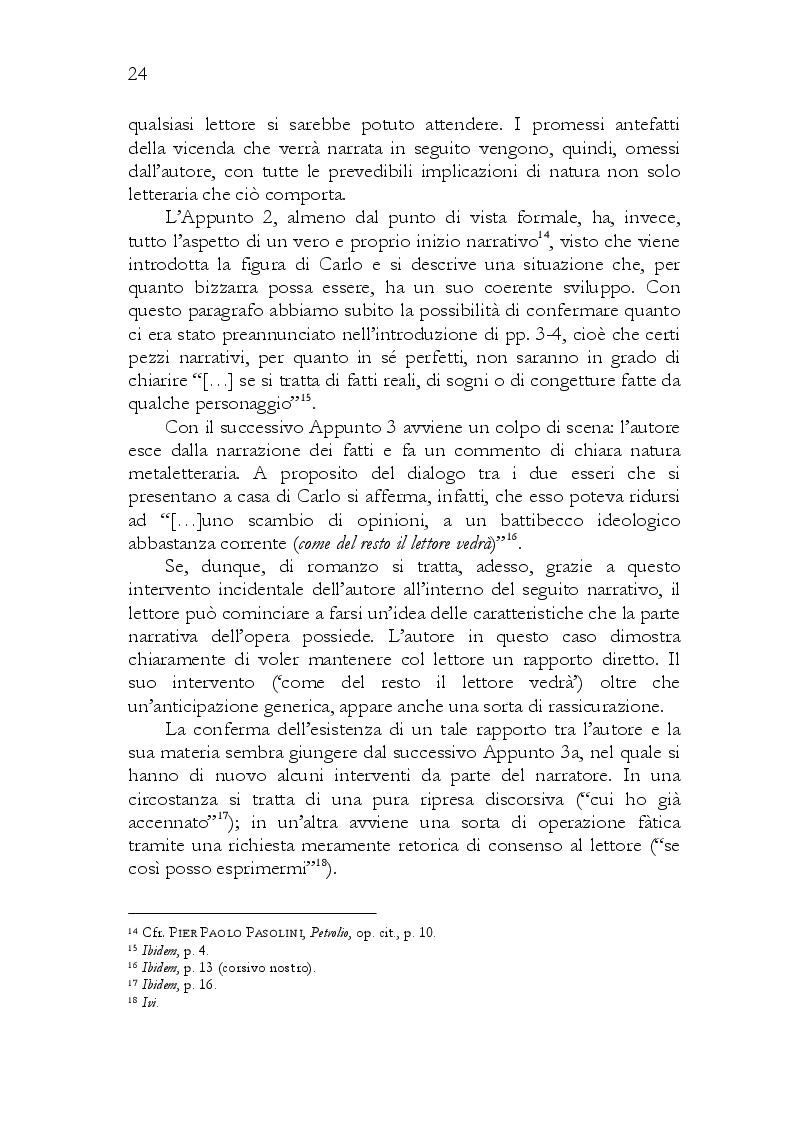 Estratto dalla tesi: CODICE PETROLIO. Cifrazione nel romanzo postumo di Pasolini.