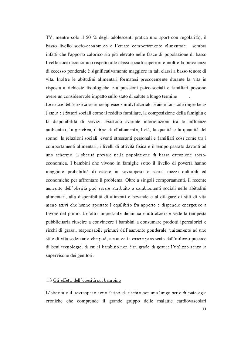 Estratto dalla tesi: Bambini e obesità: ruolo del care manager infermieristico in uno studio prospettico sullo stile alimentare in età scolare