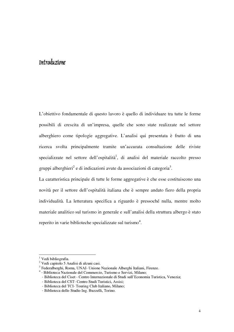 Anteprima della tesi: Le tipiche forme di aggregazione nel settore alberghiero in Italia e all'estero, Pagina 1