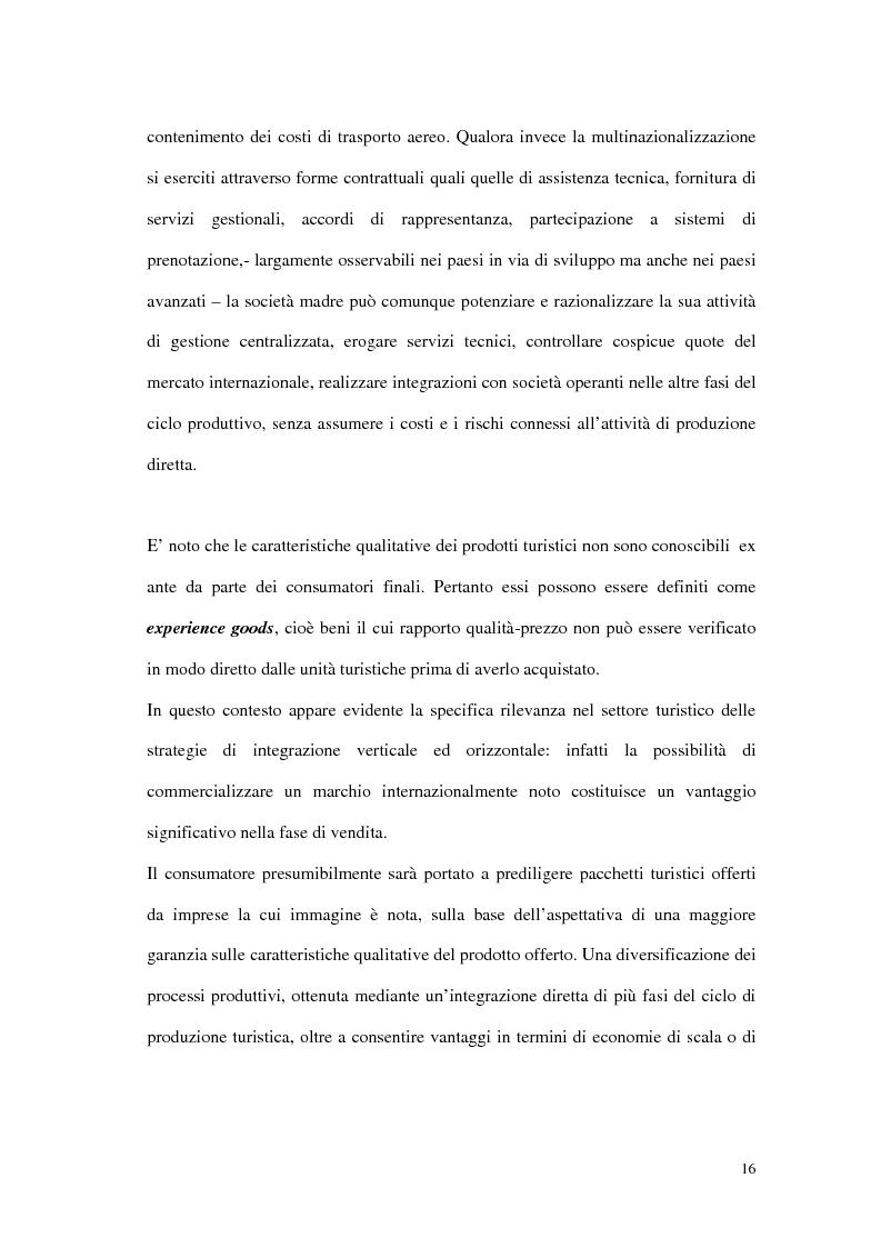 Anteprima della tesi: Le tipiche forme di aggregazione nel settore alberghiero in Italia e all'estero, Pagina 13