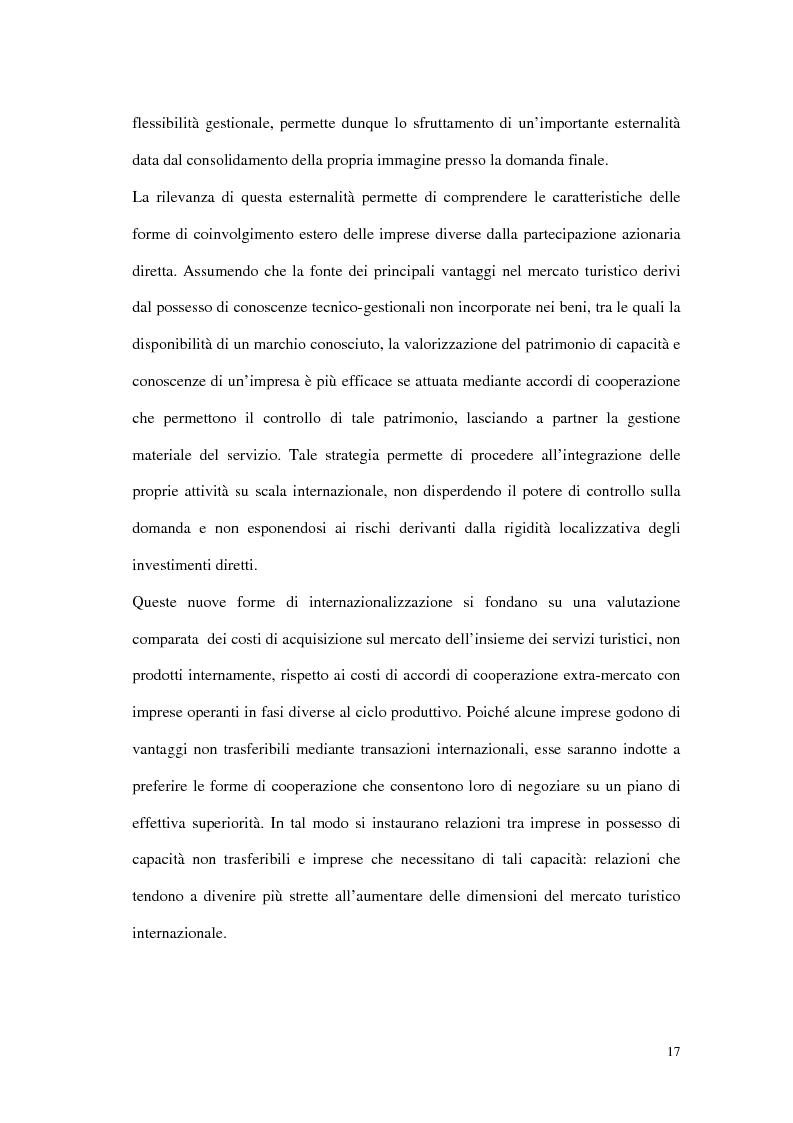 Anteprima della tesi: Le tipiche forme di aggregazione nel settore alberghiero in Italia e all'estero, Pagina 14