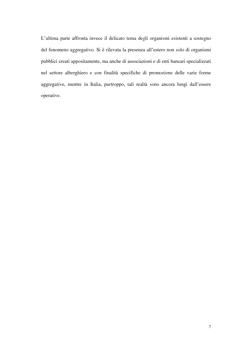 Anteprima della tesi: Le tipiche forme di aggregazione nel settore alberghiero in Italia e all'estero, Pagina 4