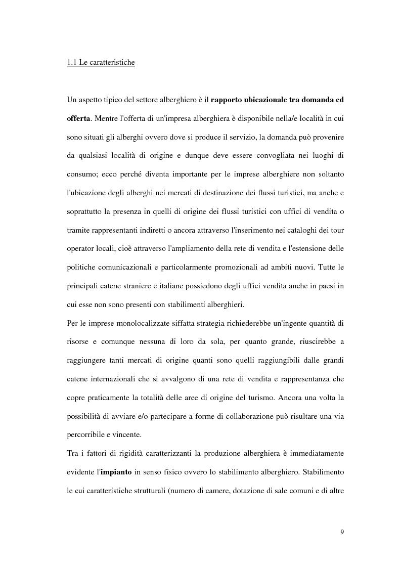 Anteprima della tesi: Le tipiche forme di aggregazione nel settore alberghiero in Italia e all'estero, Pagina 6
