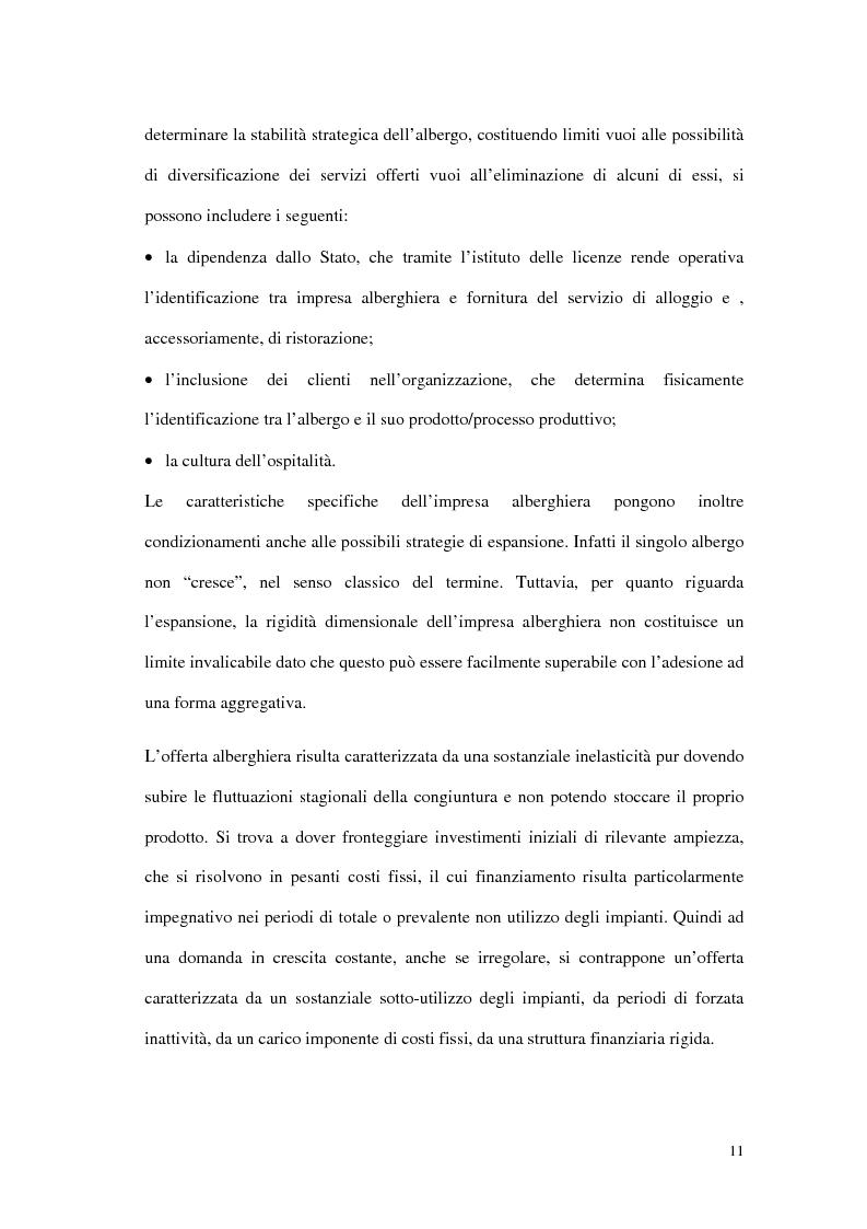 Anteprima della tesi: Le tipiche forme di aggregazione nel settore alberghiero in Italia e all'estero, Pagina 8