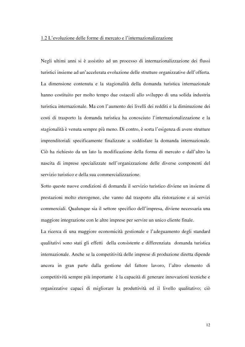 Anteprima della tesi: Le tipiche forme di aggregazione nel settore alberghiero in Italia e all'estero, Pagina 9