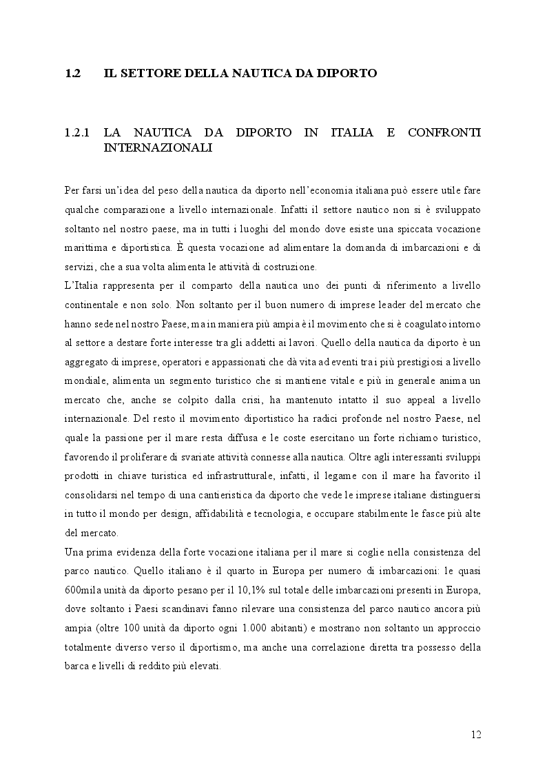 Estratto dalla tesi: Il primato italiano della cantieristica da diporto: Il caso Sanlorenzo S.p.A.