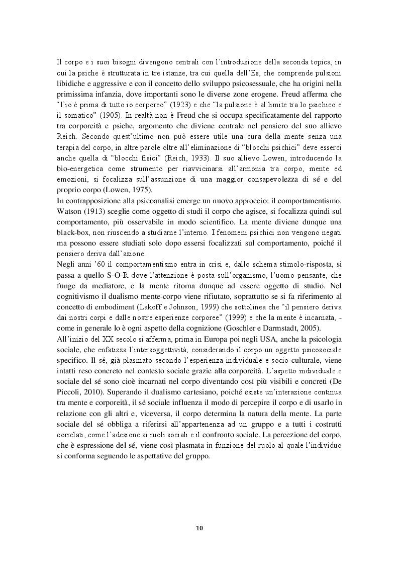 Estratto dalla tesi: Rappresentazioni discorsive del corpo femminile