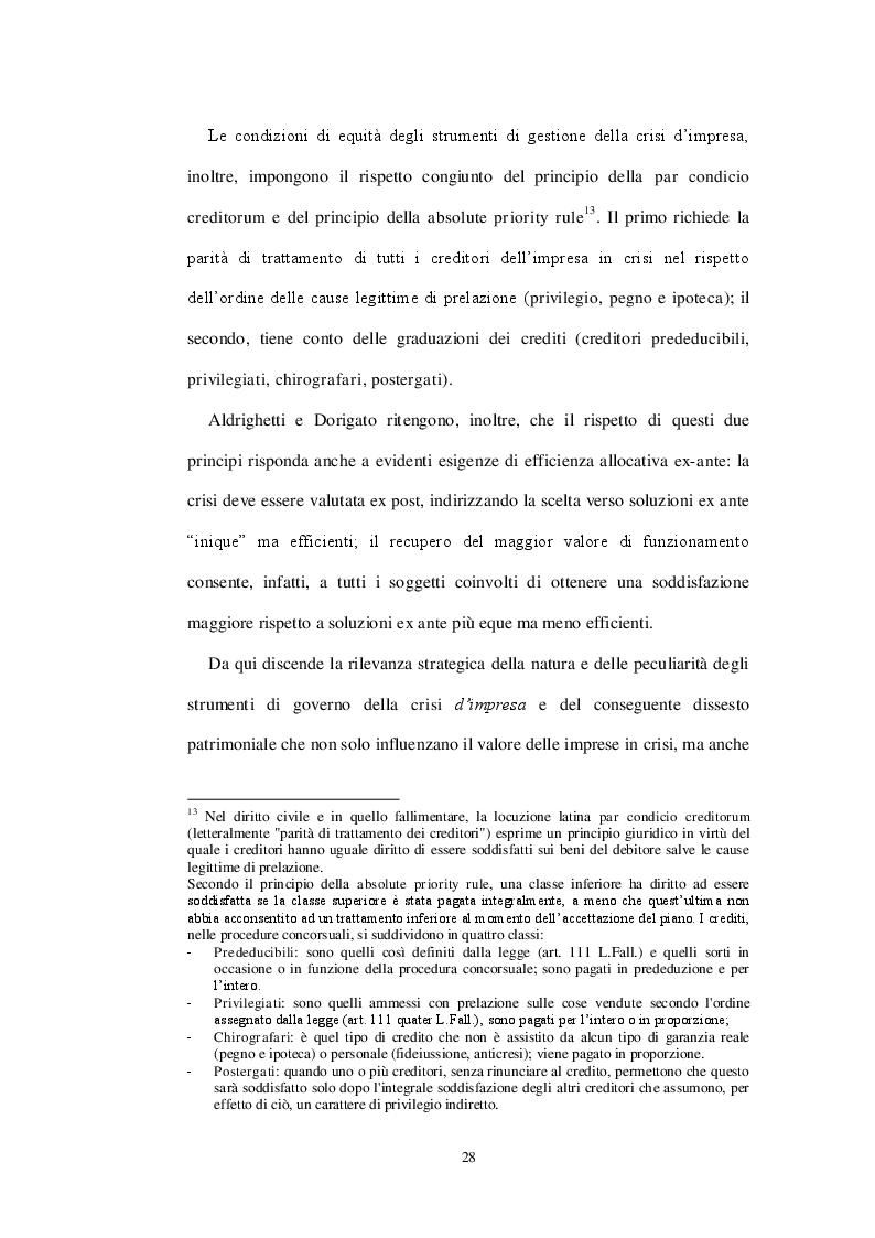 Estratto dalla tesi: Crisi d'Impresa e Valutazione d'Azienda: il metodo patrimoniale applicato ad un caso reale