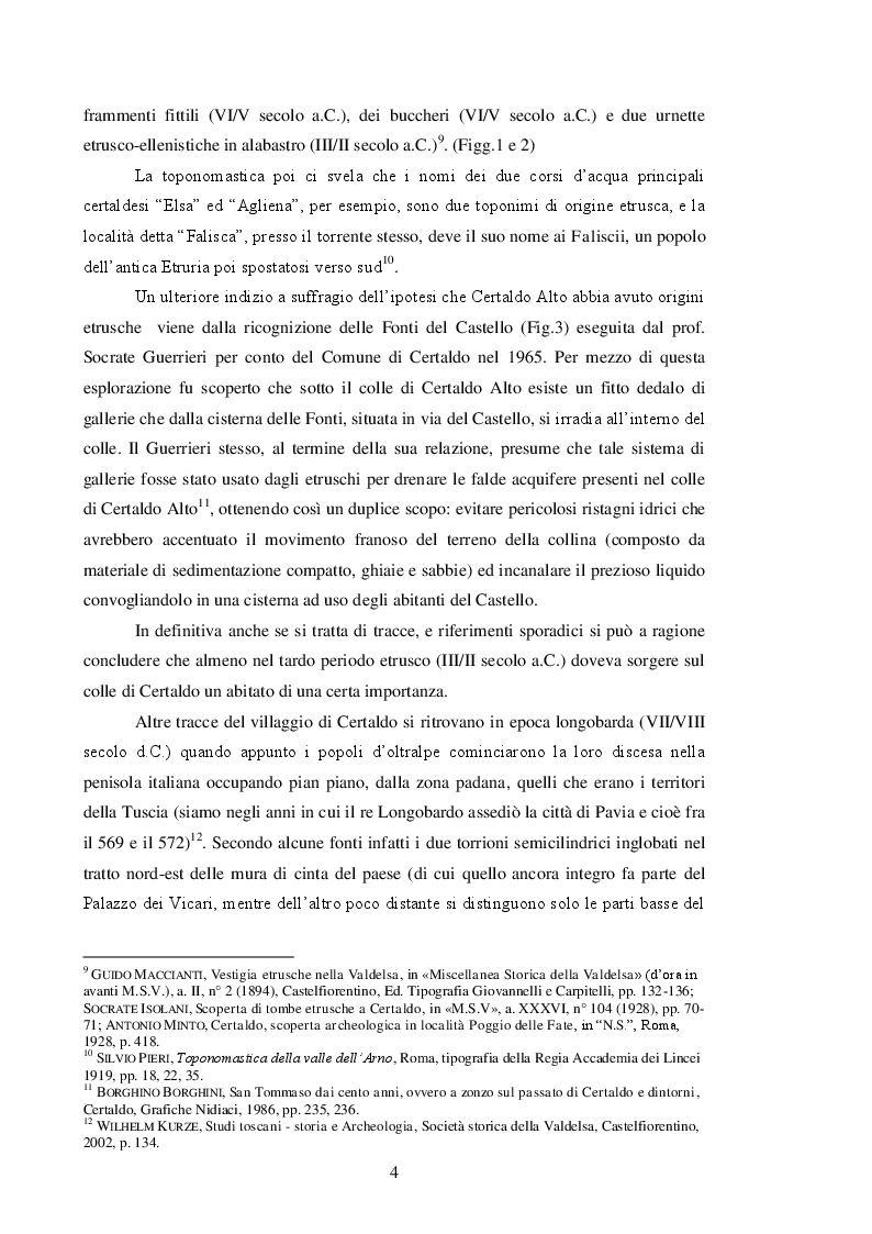 Anteprima della tesi: Il Palazzo Vicariale di Certaldo: evoluzione di un edificio pubblico attraverso modifiche, trasformazioni e restauri, Pagina 5