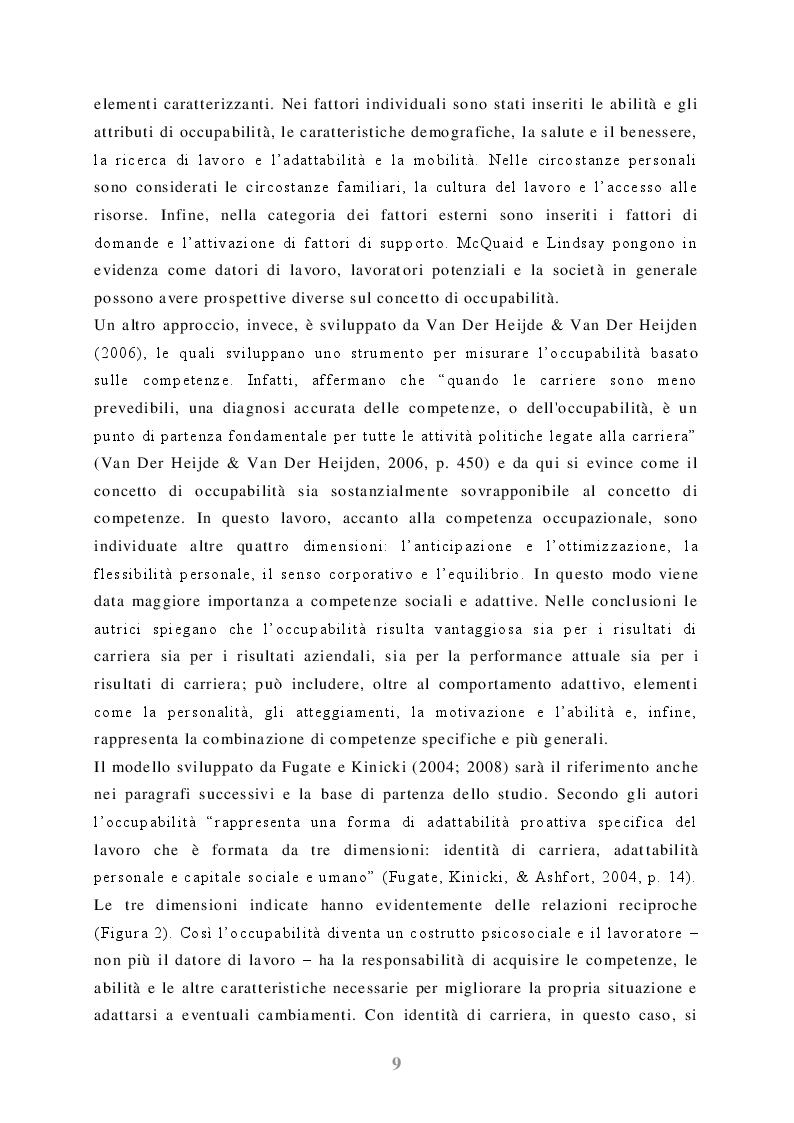 Estratto dalla tesi: Occupabilità degli studenti universitari: uno studio su laureandi e neolaureati dell'università di Bologna