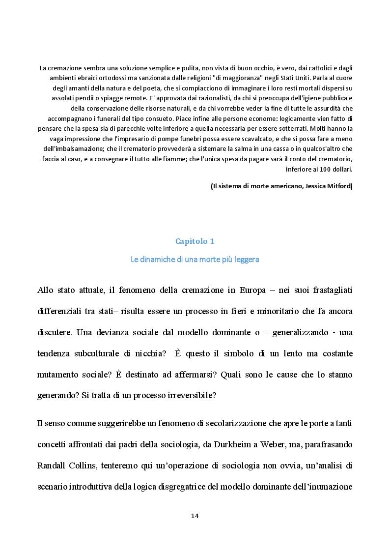 Estratto dalla tesi: Le origini e gli sviluppi della cremazione in Europa