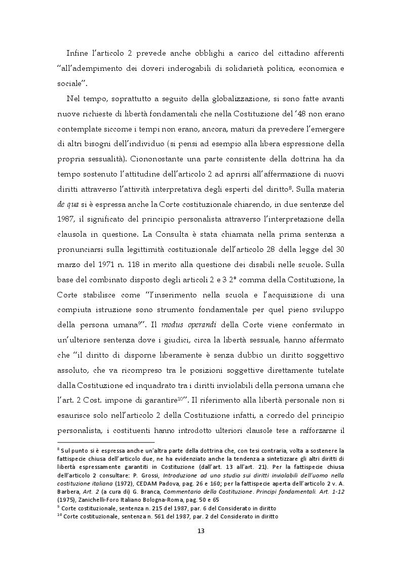 Estratto dalla tesi: I diritti umani nei rapporti tra l'ordinamento statale e la CEDU. Il contesto delle carceri in Italia: una questione di legalità