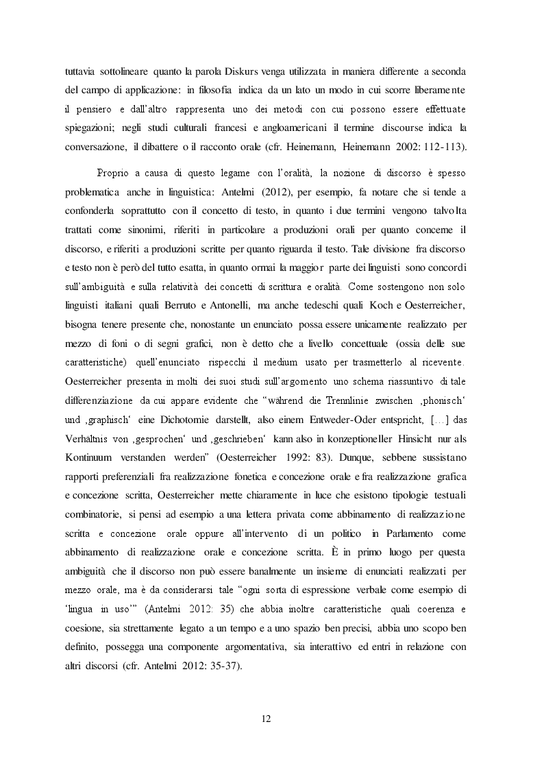 Estratto dalla tesi: Migrationsdiskurse: una proposta di analisi contrastiva fra italiano e tedesco