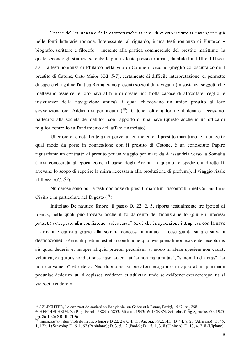 Estratto dalla tesi: Il prestito marittimo e il divieto di usura