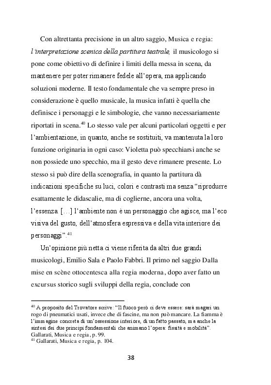 Estratto dalla tesi: La traviata: ''Un sogeto dell'epoca''. Quattro regie recenti de La traviata di Giuseppe Verdi