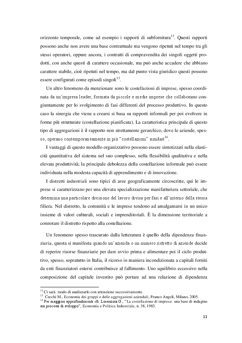 Estratto dalla tesi: Il contratto di rete