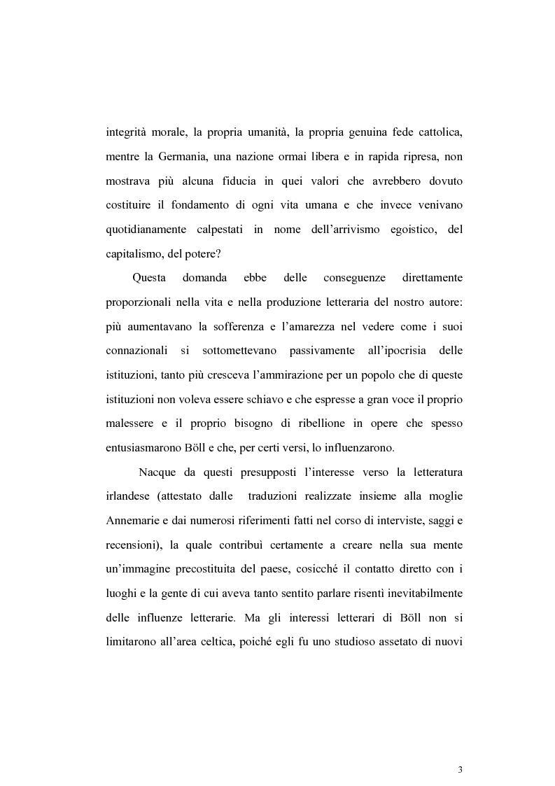 Anteprima della tesi: L'Irlanda di Heinrich Boell, Pagina 3