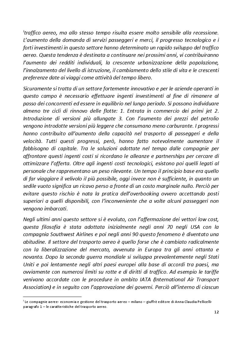 Estratto dalla tesi: Low Cost nel trasporto aereo: strategie e creazione di valore. Successi e Insuccessi