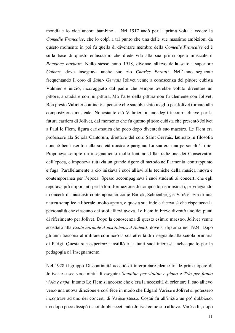 Estratto dalla tesi: Prokofiev e Jolivet