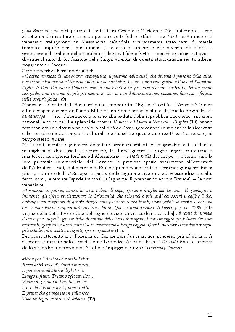 Estratto dalla tesi: L'Italia, il Mediterraneo e il Canale di Suez. L'idrovia, il Risorgimento italiano e gli equilibri internazionali 1830-1882