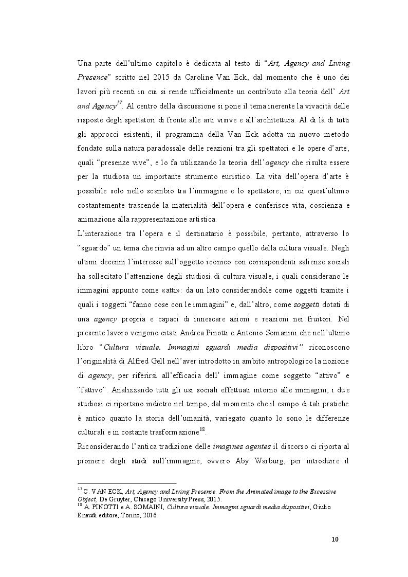 """Estratto dalla tesi: Le immagini """"agenti"""". Una riflessione critica sul ruolo dell'Agency nell'arte."""