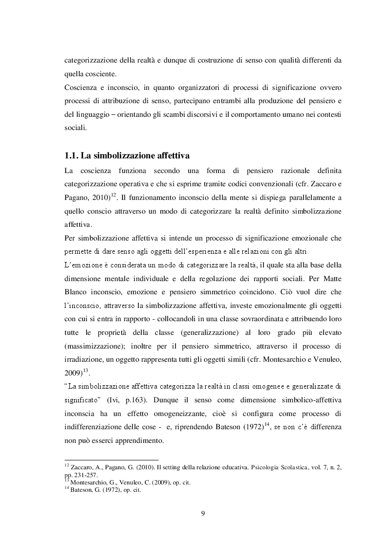 Estratto dalla tesi: Il resoconto come strumento della formazione riflessiva in psicologia. Un'indagine empirica.