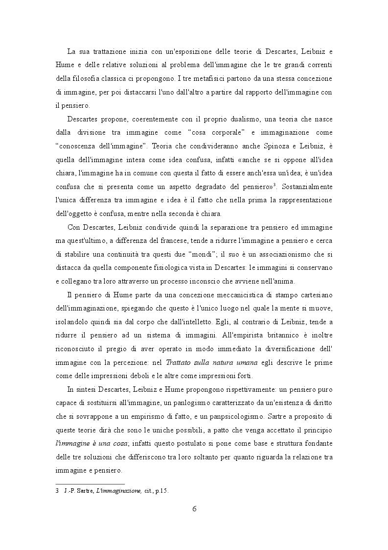 Estratto dalla tesi: Immaginazione e immaginario: Sartre e il concetto di immagine