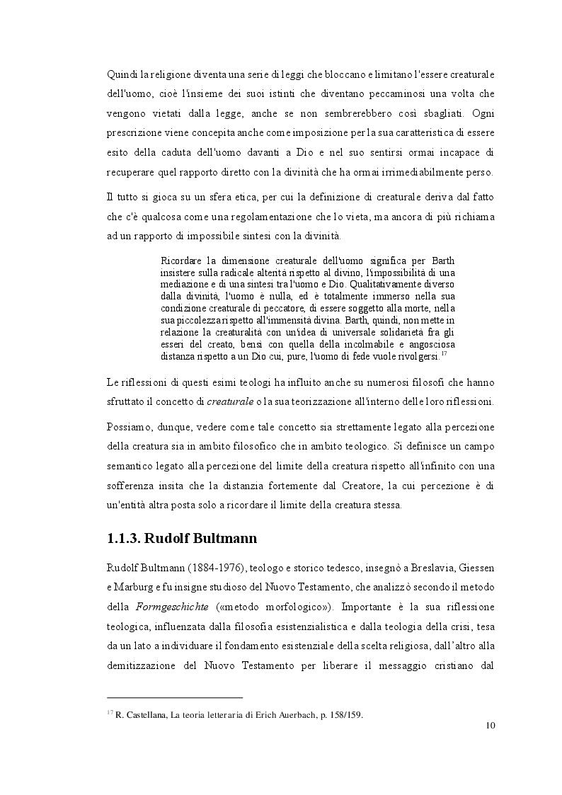 Estratto dalla tesi: Il realismo creaturale nei romanzi di Federigo Tozzi